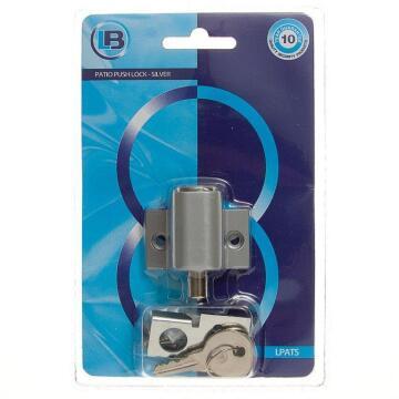 Patio door lock silver L&B security