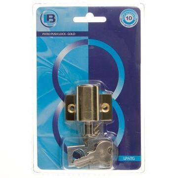 Patio door lock gold L&B security