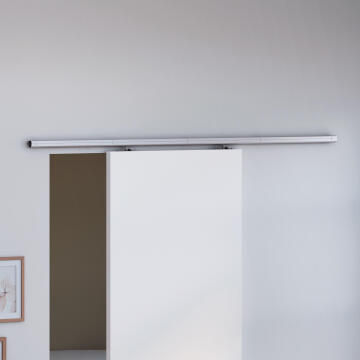 Sliding Mechanism (without door) Belem ARTENS for Wooden Door up to 40kg and 930mm width with Grey Rail Cover