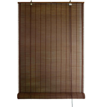 Outdoor Roll Up Blind INSPIRE Bamboo Wenge 120x300cm