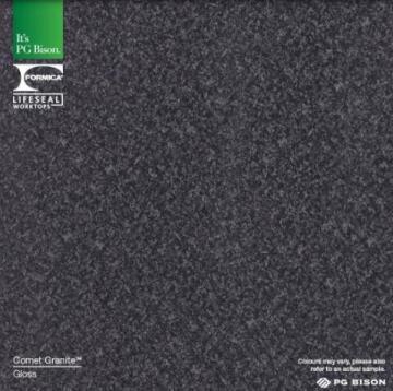 Kitchen worktop laminate comet gloss L3600 x D600 x T28mm