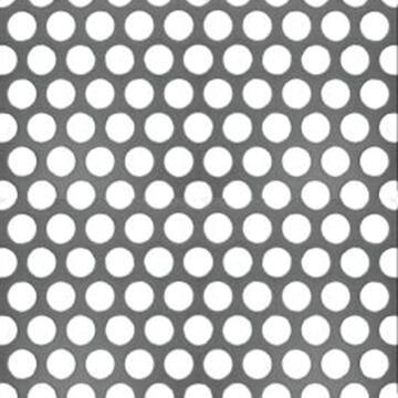 Metal sheet round punched aluminium 500x250mm arcansas