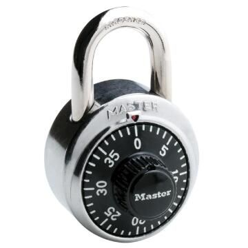 Combination padlock stainless steel body 48mm mackie