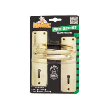 Mortice lockset pro-series brass plated 2-lever mackie