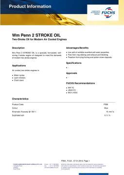 Oil, 2 Stroke Oil, FUCHS. 200ml