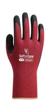 Gloves, Garden Gloves, Burgundy, TOPLINE, Nr8 Medium