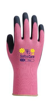 Gloves, Garden Gloves, Flora Rose Pink TOPLINE, Nr8 Medium