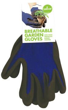 Gloves, Garden Gloves, Blue, TOPLINE, Nr8 Medium