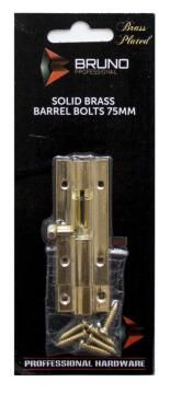 Barrel bolt brass 100mm bruno