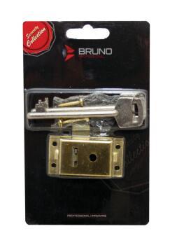 Cupboard lock brass 51mm bruno