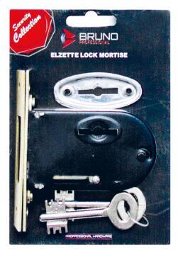 Elzett mortice lock round bruno