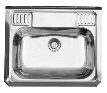 Kitchen sink wash trough 1 bowl stainless steel drop in CAM AFRICA 500 x 400mm
