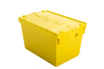 52L Plastic Storage Box Yellow