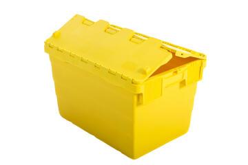 18L Plastic Storage Box Yellow
