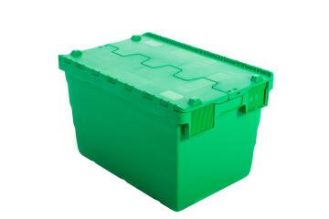 52L Plastic Storage Box Green