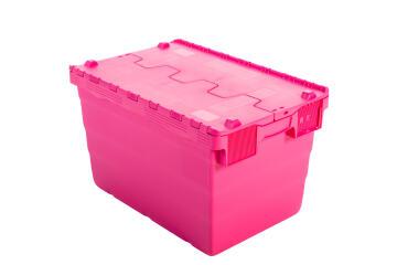 68L Plastic Storage Box Pink