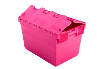 18L Plastic Storage Box Pink