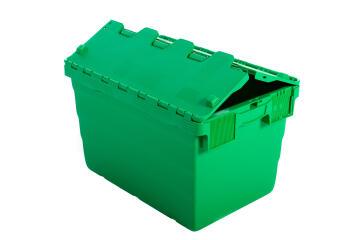 68L Plastic Storage Box Green