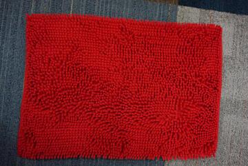 Bath mat woven cotton SENSEA Kate red 40X60CM