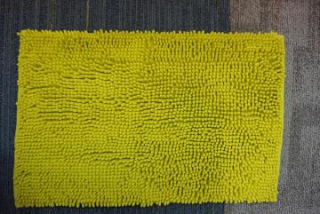 Bath mat woven SENSEA Kate lime 40x60cm