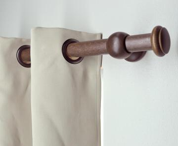 Curtain Rod Finial INSPIRE 35mm Diam Pebble Screw Dark Oak