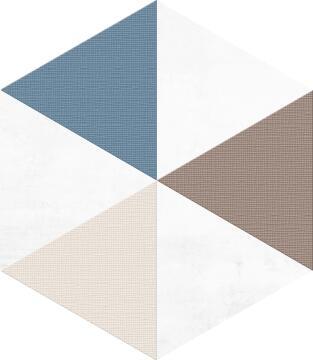 Hexagon Tile Ceramic Delta 220x250mm