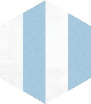 Hexagon Tile Ceramic Porto Blue 220x250mm