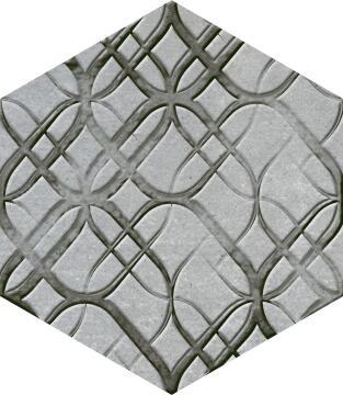 Hexagon Tile Ceramic Cement Malta Blend 220x250mm (Pack of 3)