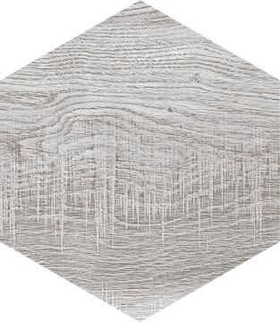 Hexagon Tile Ceramic Harlem Grey 220x250mm
