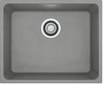 Kitchen sink 1 deep bowl stone composite undermount FRANKE KGB10-50 grey 540 x 404 x 200mm