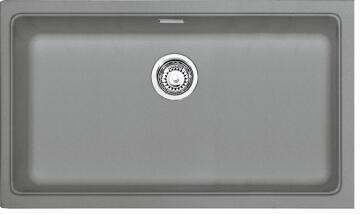 Kitchen sink 1 deep bowl stone composite undermount FRANKE KGB110-70 grey 802 x 460 x 200mm