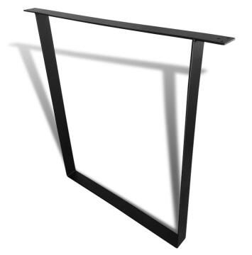Bench Leg Steel U Shape Square Tubing Black-h720 x w740mm