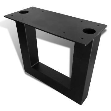Bench Leg Steel U Shape Square Tubing Black-h410 x w440mm