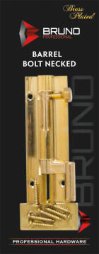 Barrel bolt necked brass 50mm bruno