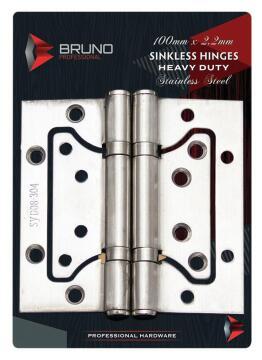 Sinkless hinges stainless steel 100x2.2mm bruno