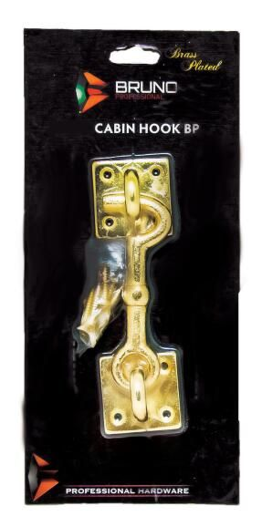Cabin hook brass 75mm bruno