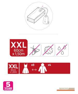 Compressing vacuum bag, spaceo, 2,60*150CM