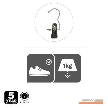 Metal hanger for shoe, spaceo, black