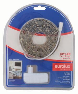 Led Strip Diy Kit 3M 7.2W/M Cw EUROLUX Ip65