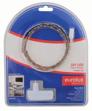 Led Strip Diy Kit 1M 4.8W/M Ww EUROLUX Ip65