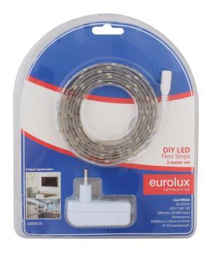Led Strip Diy Kit 2M 7.2W/M Cw EUROLUX Ip65