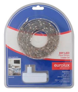Led Strip Diy Kit 3M 7.2W/M Rgb EUROLUX Ip65