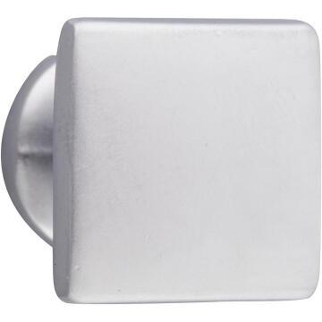 Cabinet knob square matte chrome cubic 20x20mm inspire