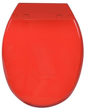 Toilet seat mdf with soft close Sensea Bolero red
