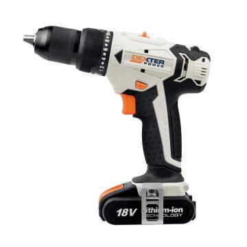 Impact Drill Cordless DEXTER POWER 18V 1 Bat Li 2Ah