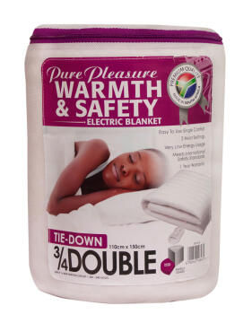 ELECTRIC BLANKET 3/4 & DOUBLE NON-FITTED