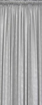 CURTAIN BROADACRES SILVER TAPED 230X218