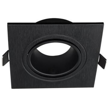 DOWNLIGHT HOUSING ONLY SQUARE BLACK