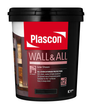 Paint Exterior Low Sheen PLASCON Wall & All White 20l