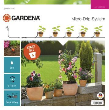 GARDENA MICRO DRIP START FOR FLOWER POTS